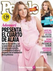 Una de las muchas portadas a las que nos sometió Adamari López durante su embarazo.
